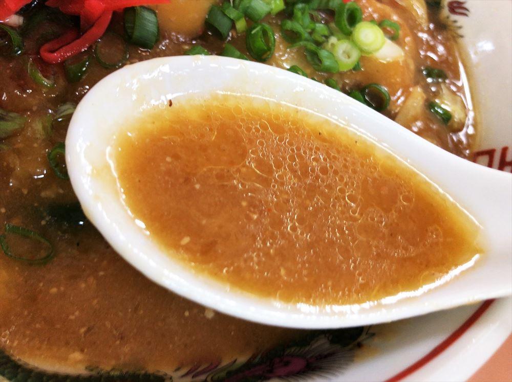 めんくい亭「とろみそラーメン」のスープ