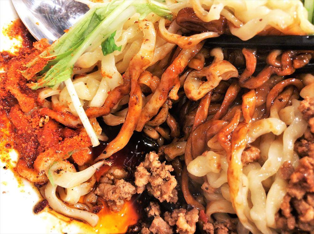 汁なし担々麺っぽい専門店 ラボラトリー「ラボタン(辛さ3、痺れ2)」の麺