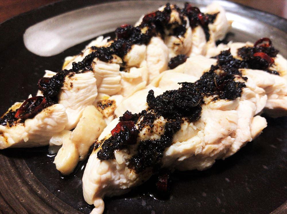 【ヤマヤ醤油】の発酵旨味オイルを鶏胸肉