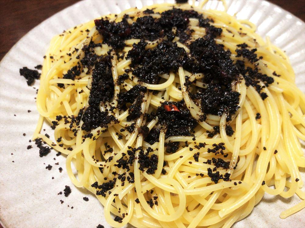 【ヤマヤ醤油】の発酵旨味オイルときざみ浜納豆をスパゲティに