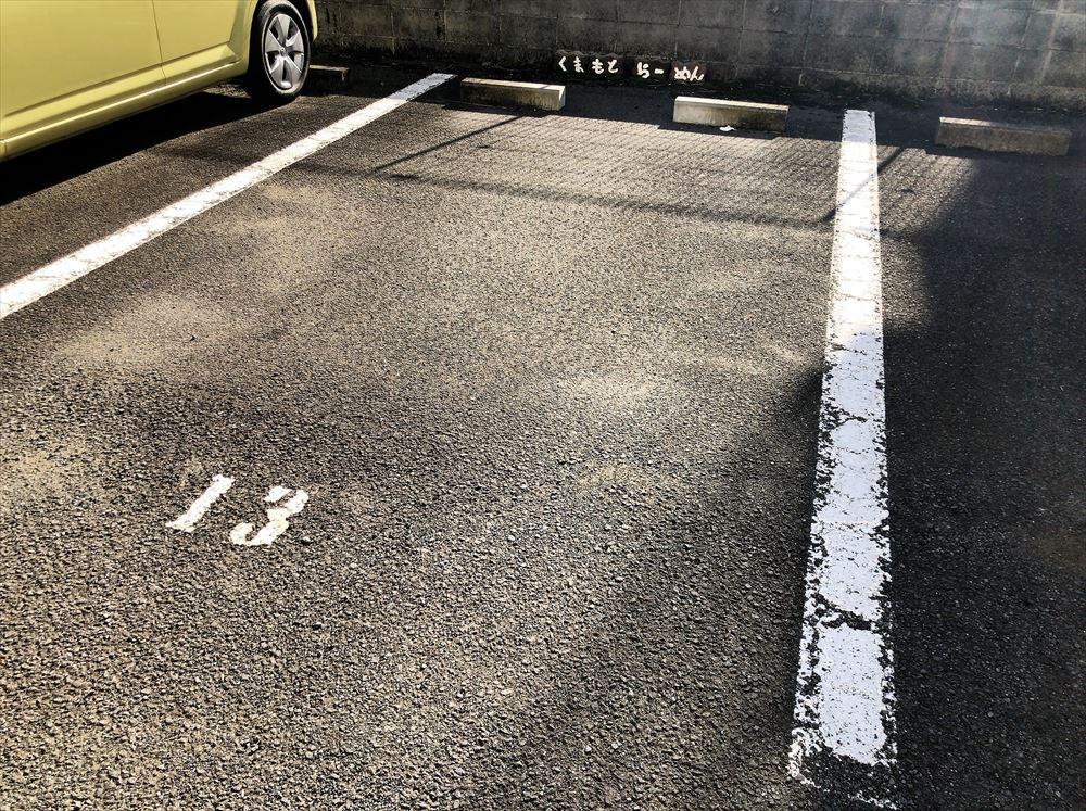 くまもとらーめん ブッダガヤへの駐車場