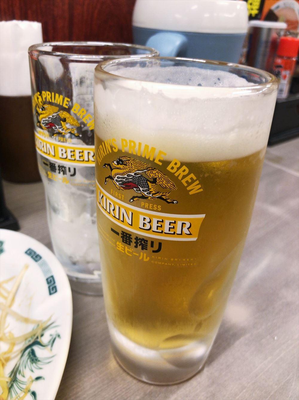 中華料理 来来軒 大宮南銀座店のビール