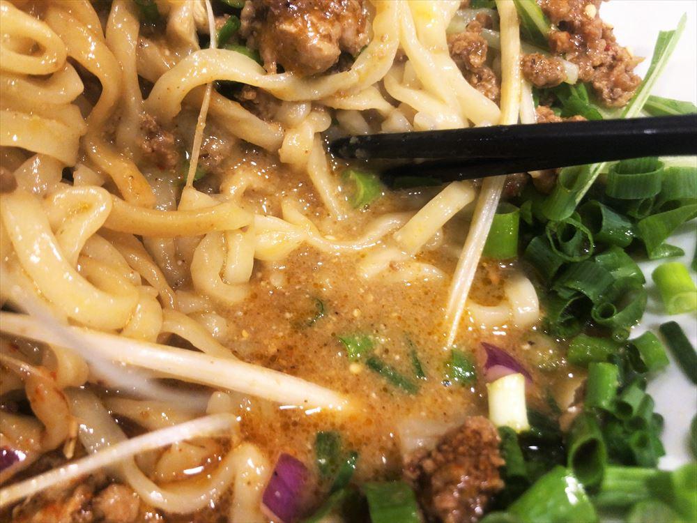 汁なし担々麺っぽい専門店 ラボラトリー「ラボタン白(辛さ3、痺れ3)」のタレ