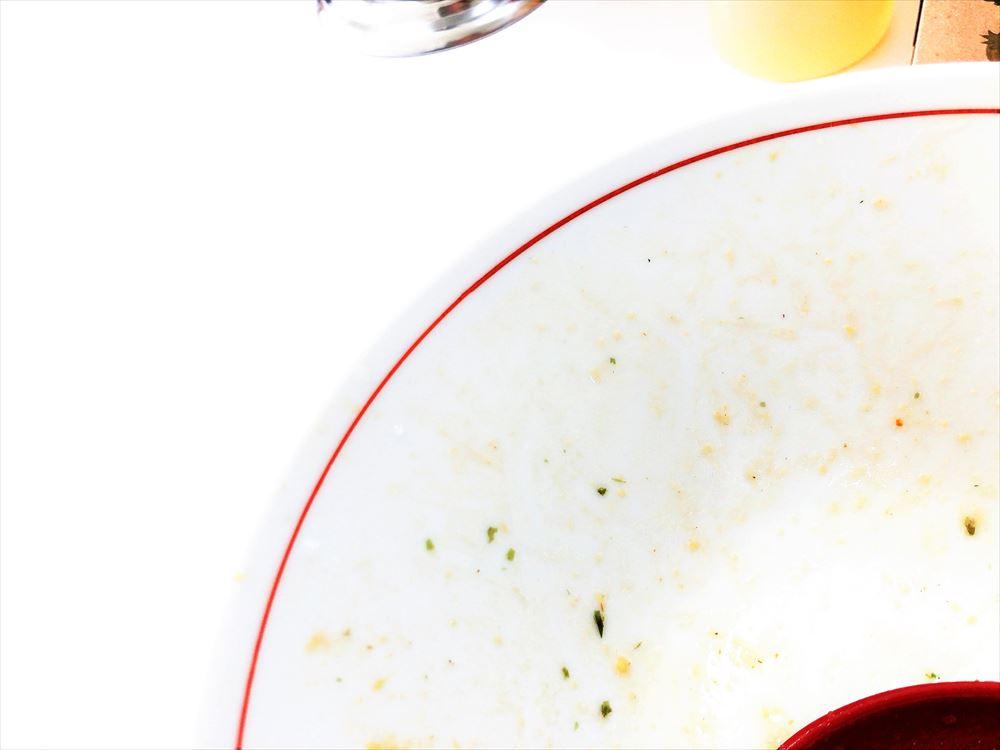 ませそばあぶらそば専門店 GoKaKu「スタミナ油そばにんにく入(大盛)」の完食