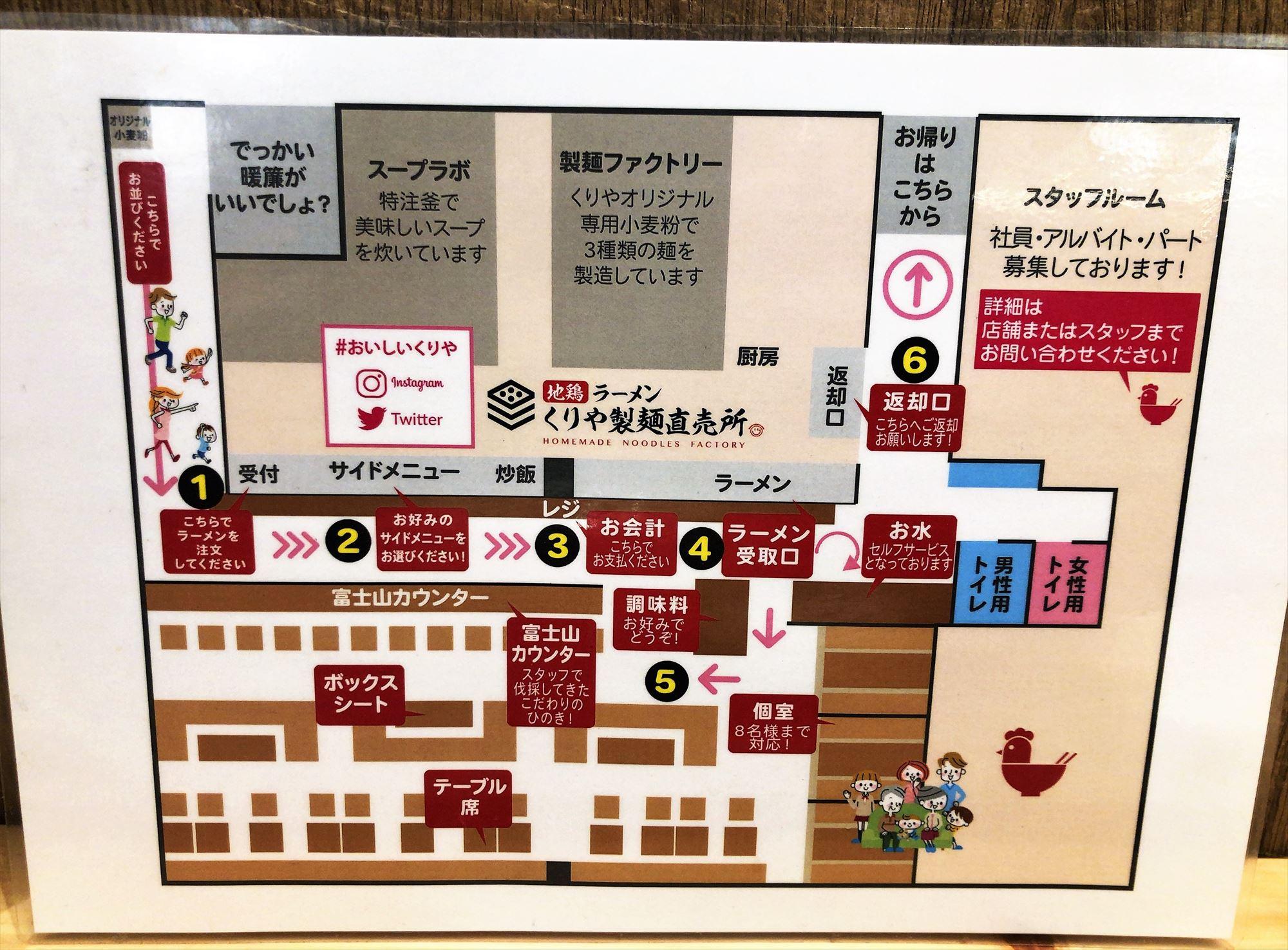 地鶏ラーメン くりや製麺直売所の案内
