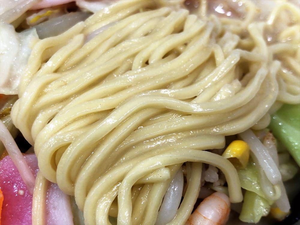 長崎ちゃんぽん リンガーハット サンストリート浜北店「長崎ちゃんぽん(2倍)」麺
