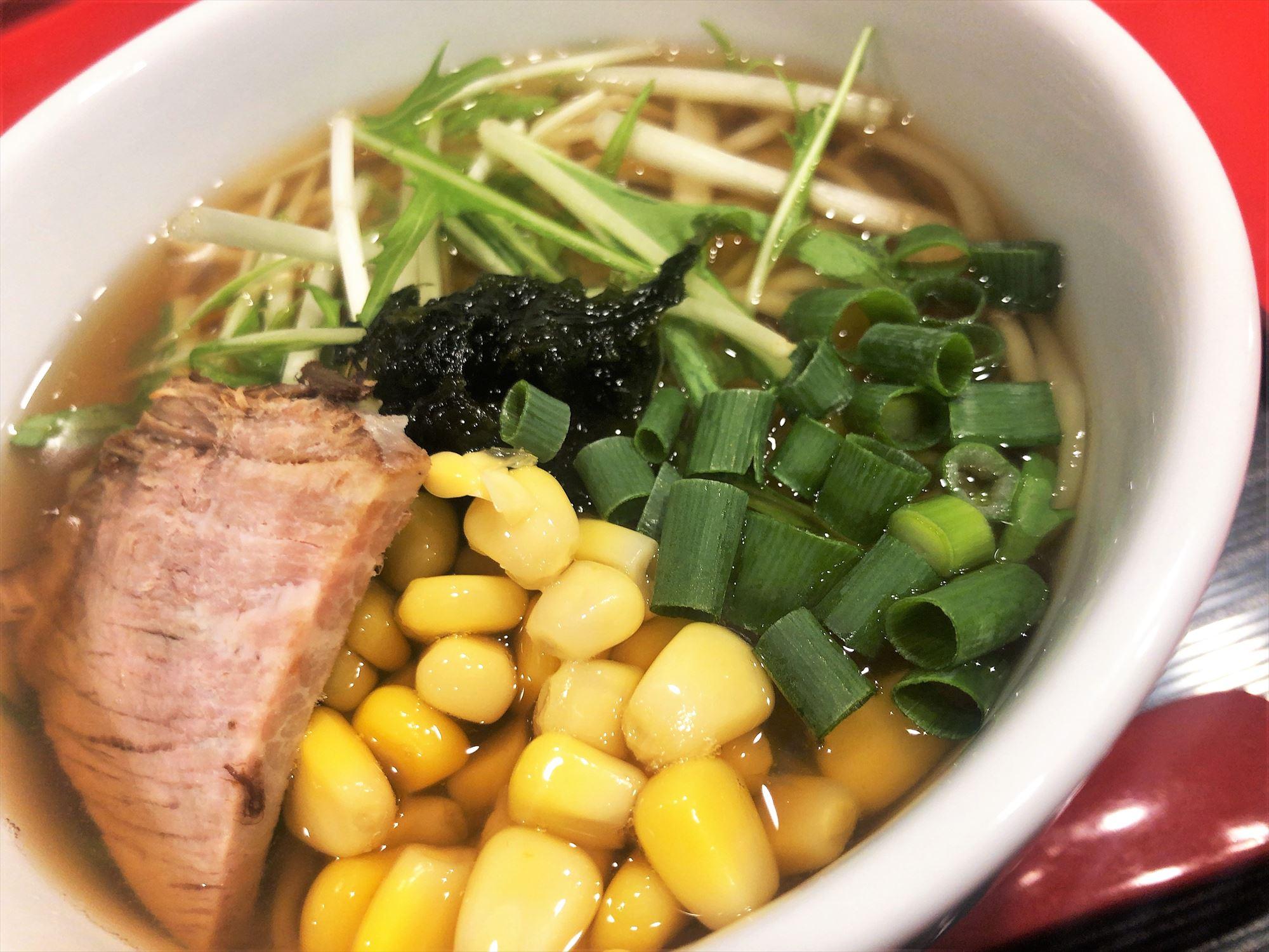 汁なし担々麺っぽい専門店 ラボラトリー「お子様ラーメン・醤油」スープ