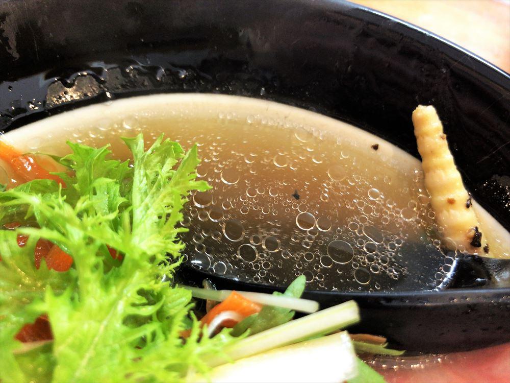 僕家のらーめん らくがき「豚うるわしチャーシュー麺」スープ