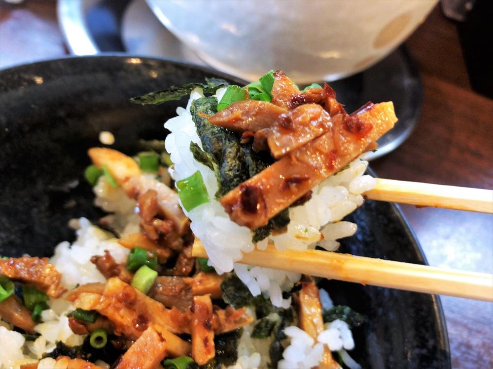 らーめん 樽「ピリ辛チャーシュー丼」