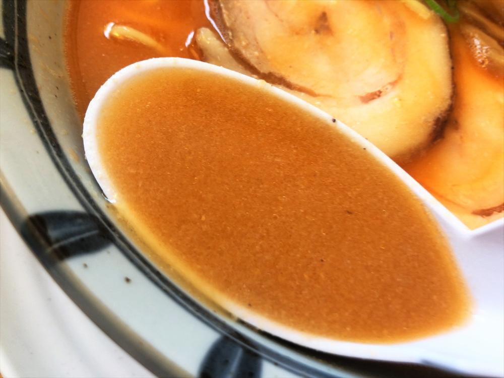 らぁ麺屋 まるみ「海老味噌らぁめん」スープ
