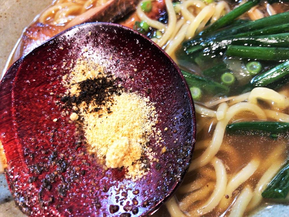 麺や 桜風「小ネギらーめん・醤油」味変