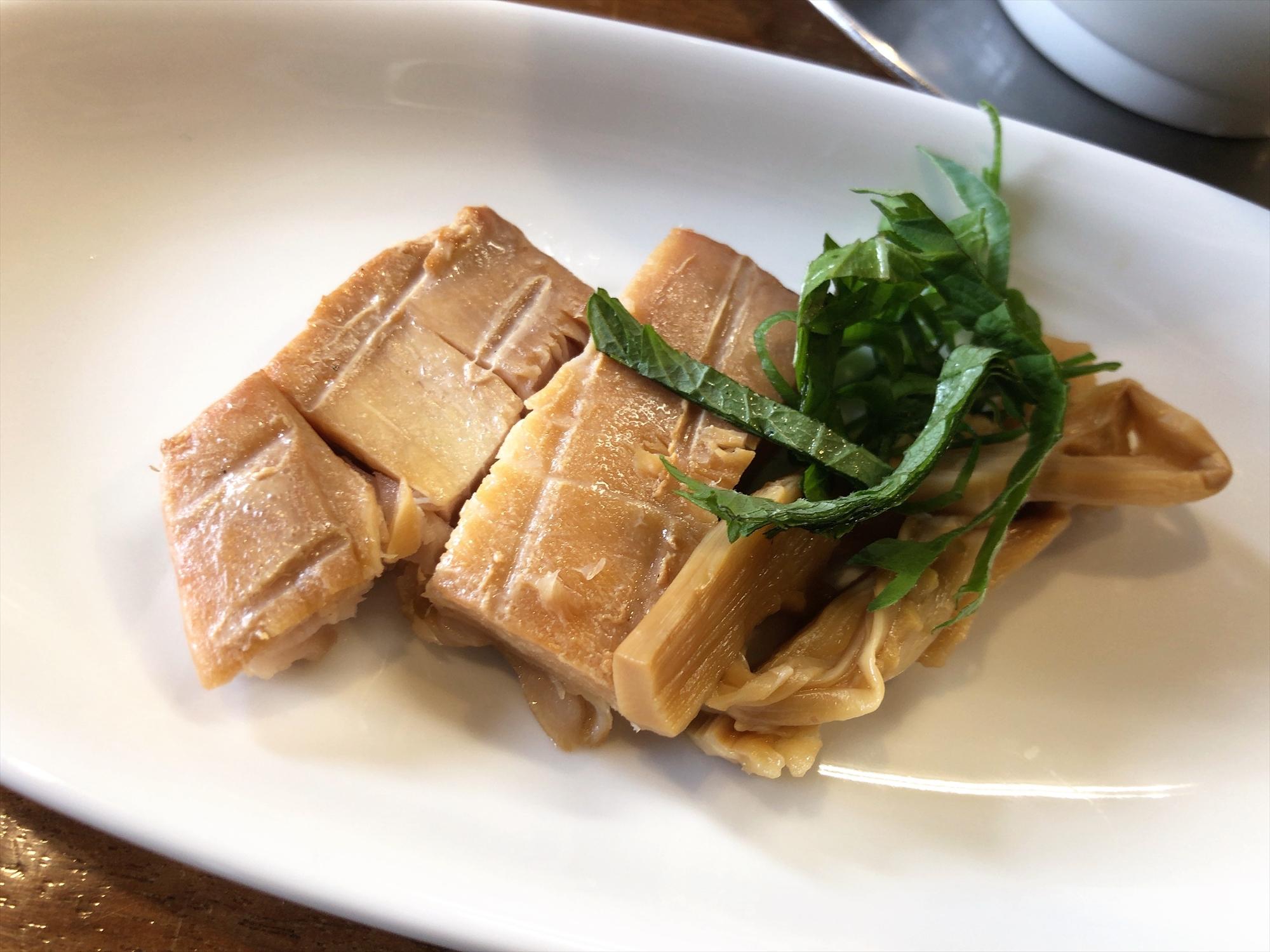 麺屋 菜花奈「魚貝潮Ⅱ」トッピング