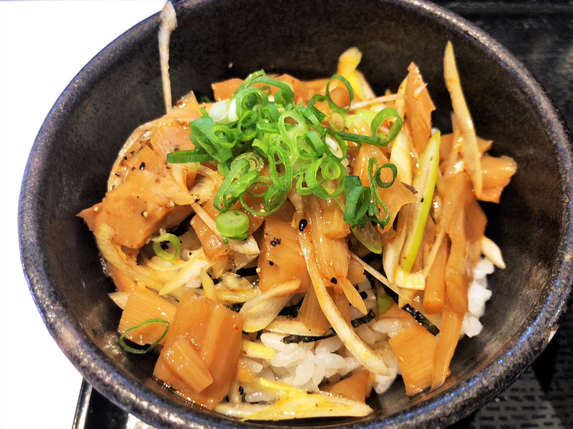 7福神 壱「メンマラー油丼」