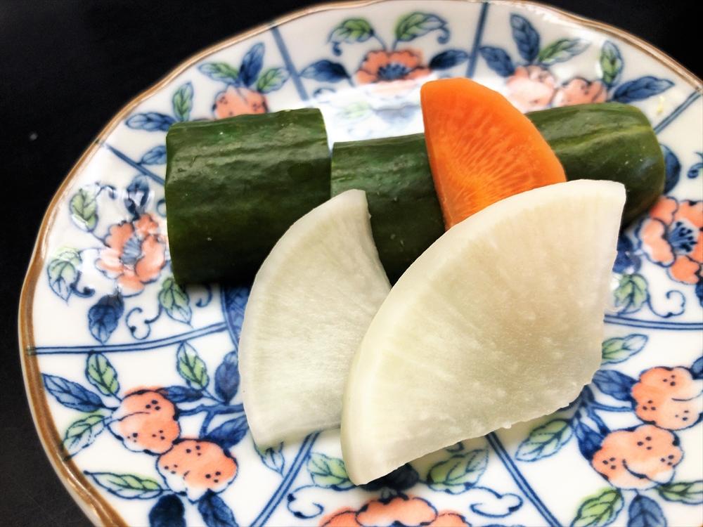 とんかつ 五郎十「ヒレカツ定食」漬物