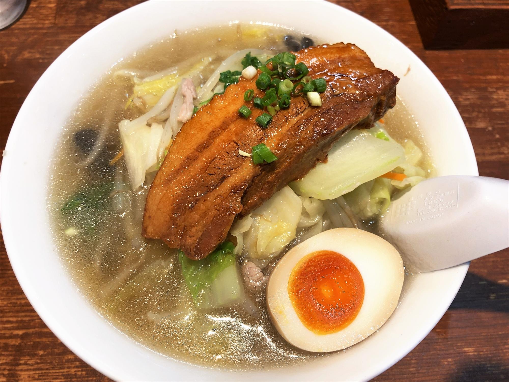 麺屋 田力「タンメン 肉一本のせ」