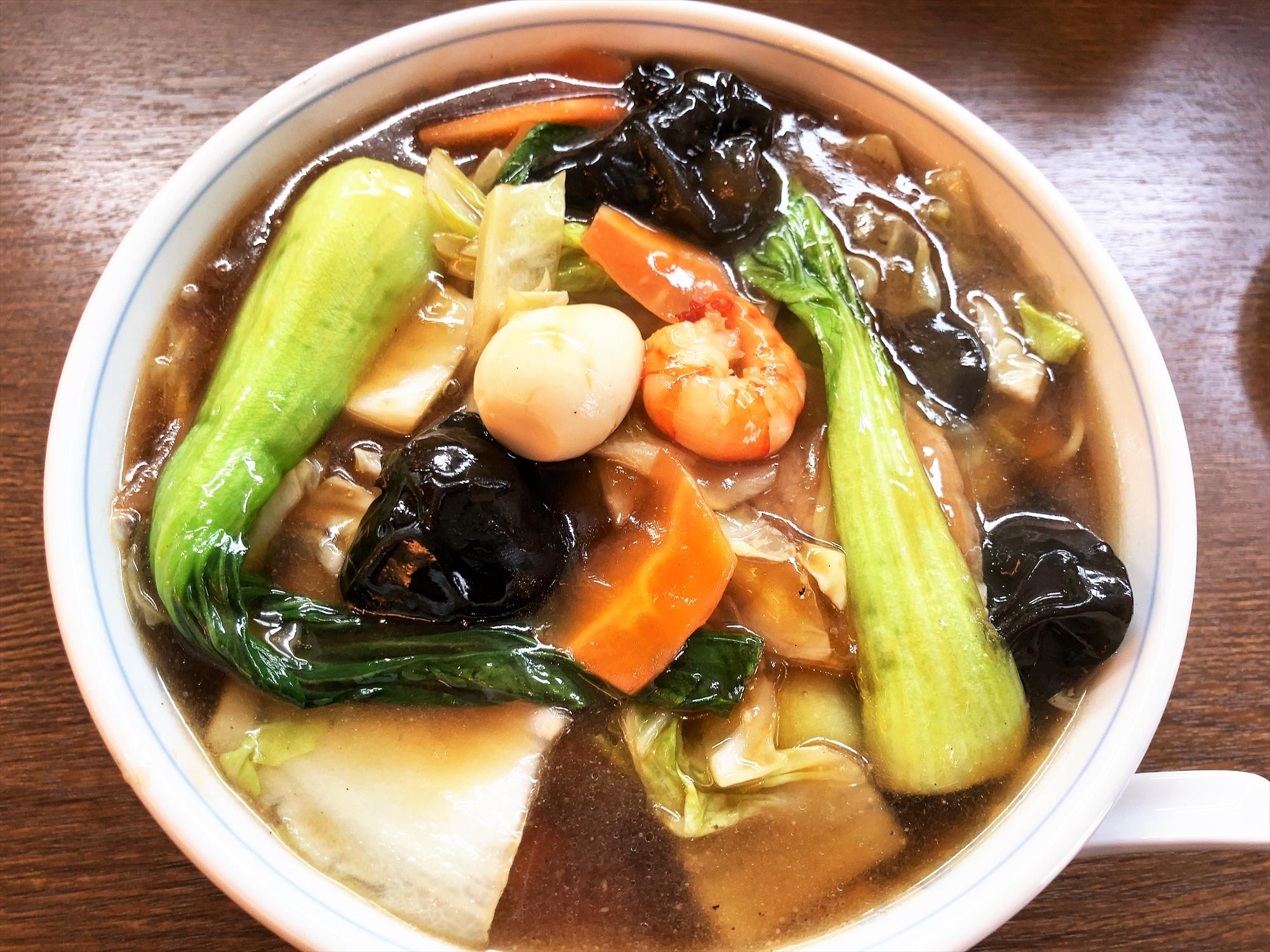 中国料理 花茶亭「五目入りそば」