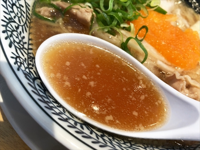 丸源ラーメン 浜松住吉店「チャーハンランチ」スープ