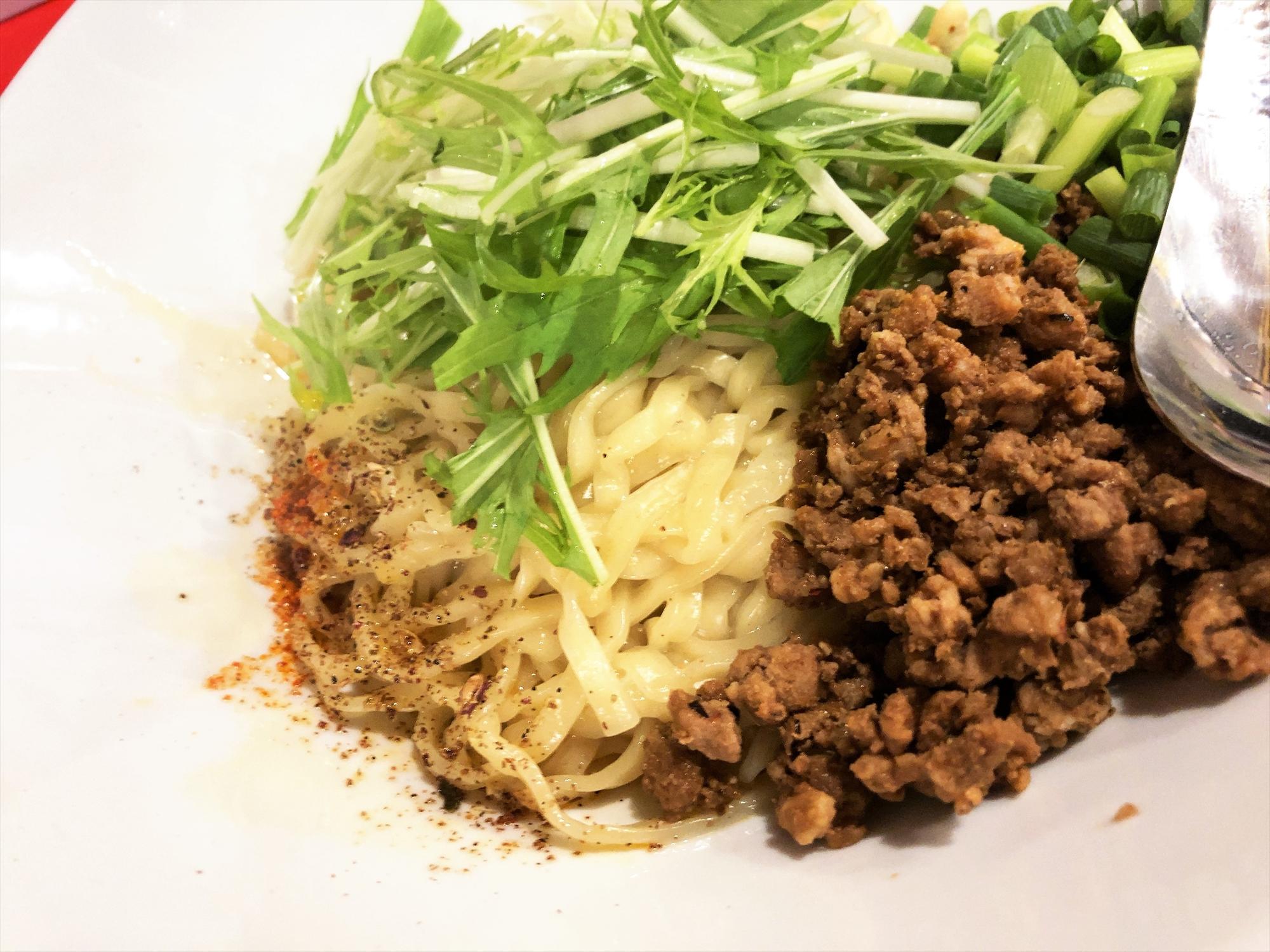 汁なし担々麺っぽい専門店 ラボラトリー「ラボタン(辛さ2、痺れ3)」
