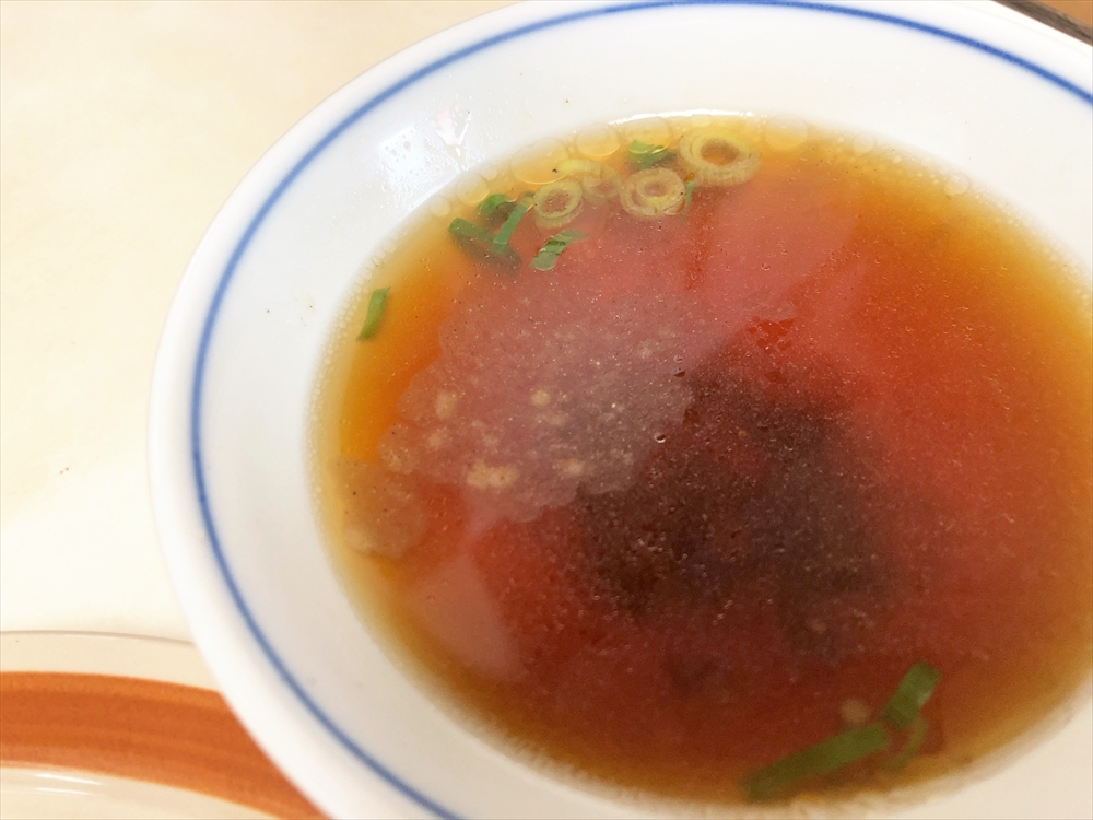 亀山屋「チャーハン」スープ