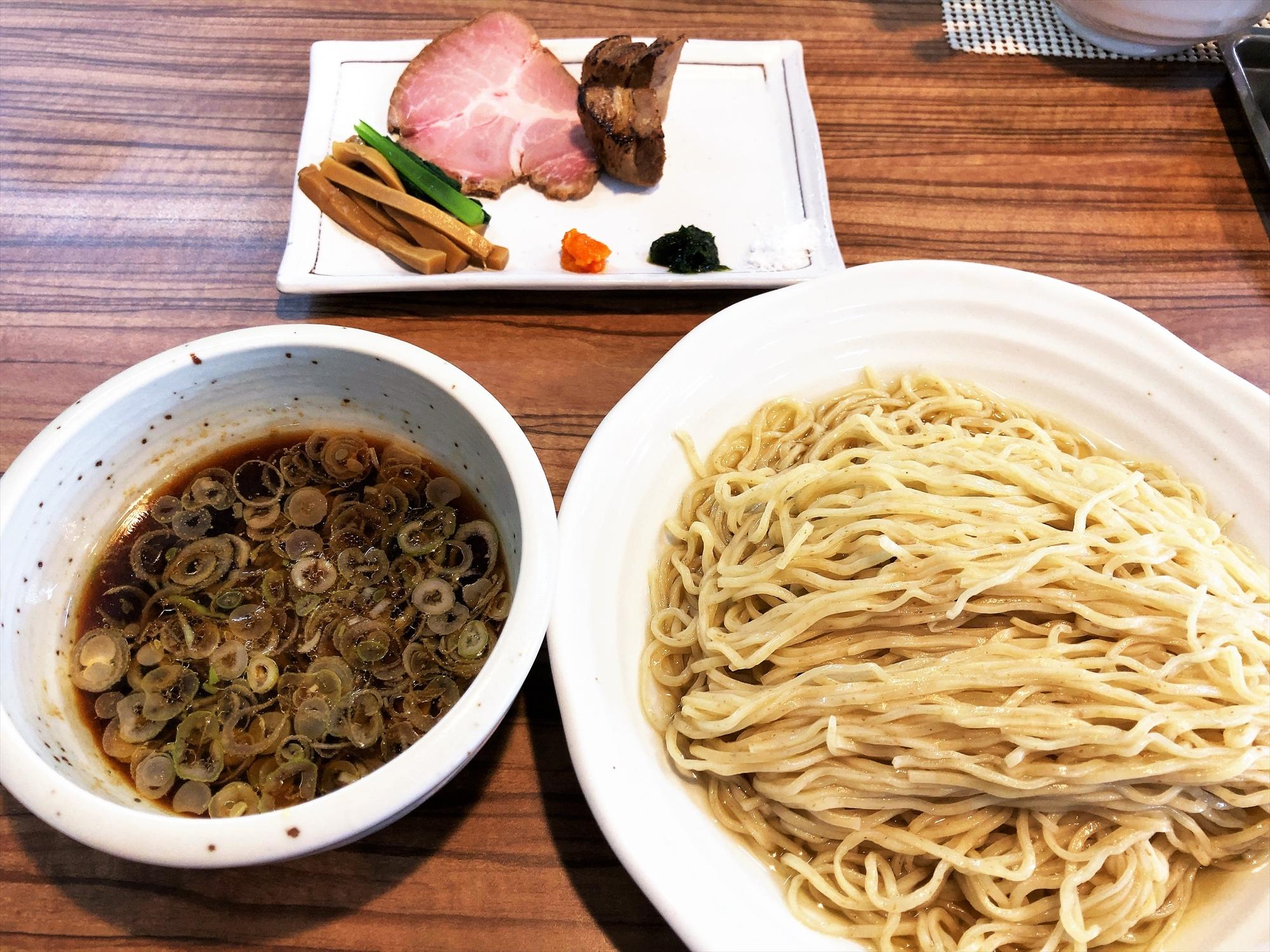 麺屋 真「醤油つけ麺(大盛)」