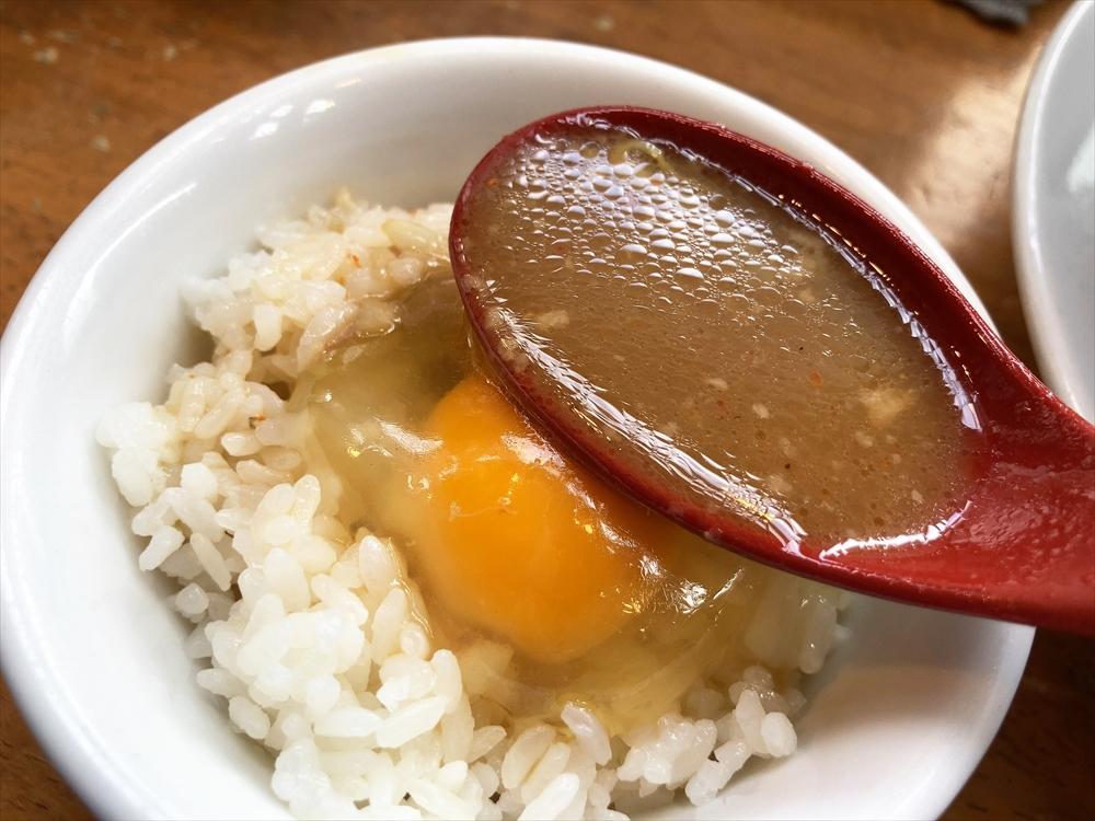 フジヤマ55 浜松中央店「濃厚ラーメン」スープイン