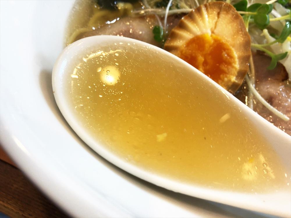 麺屋 みちの「貝だしらーめん」スープ