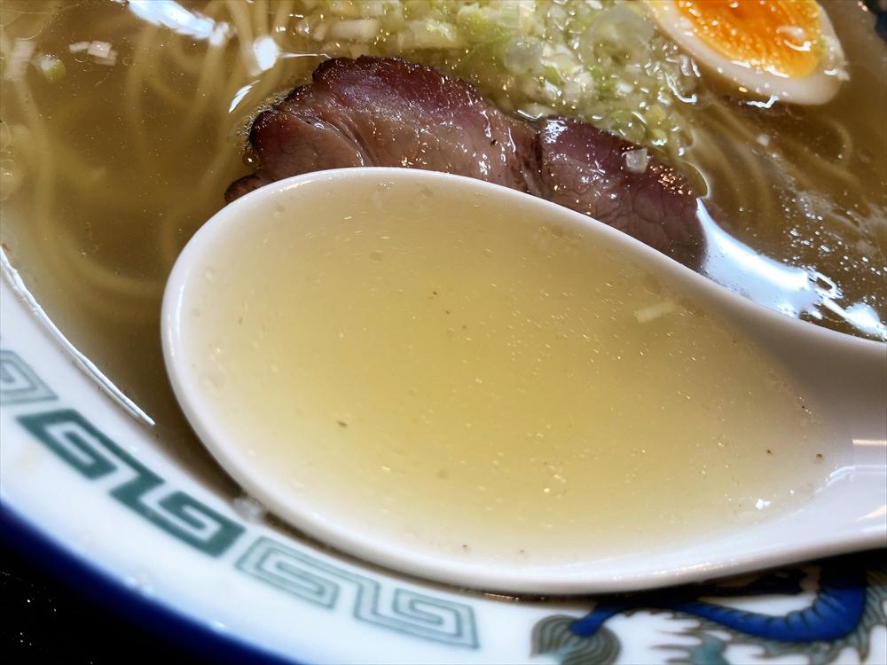 麺屋 たいちゃん「塩ラーメン」スープ