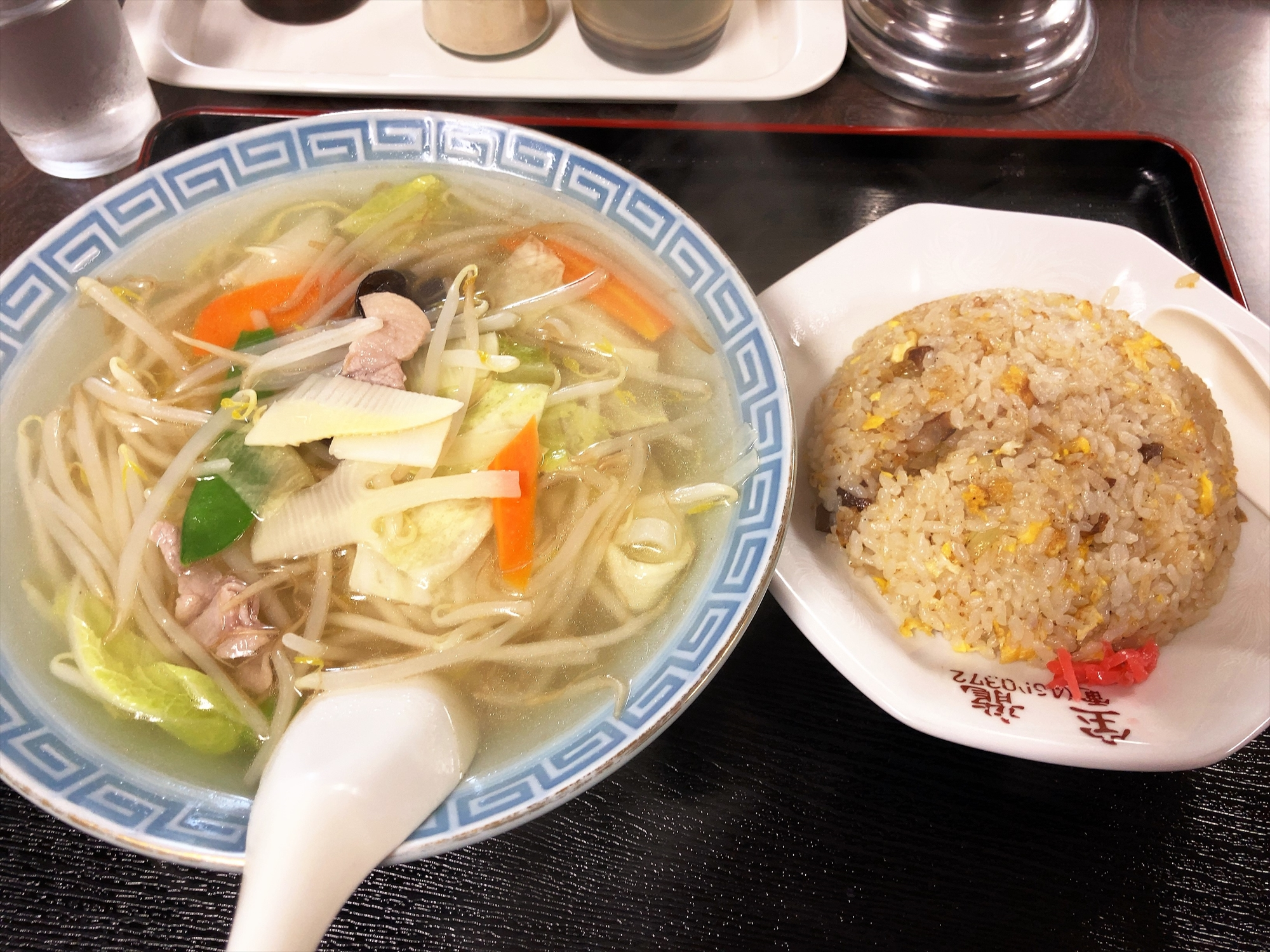 宝龍「塩ラーメン+チャーハン」
