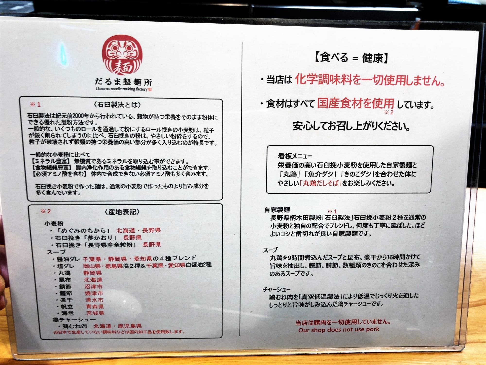 だるま製麺所の案内