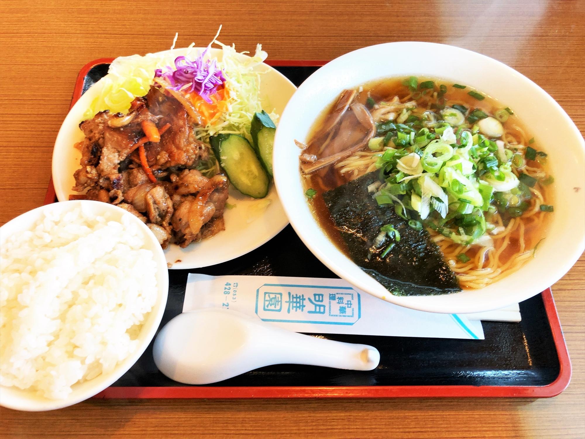 中華料理 明華園「ラーメン+焼肉ランチ」