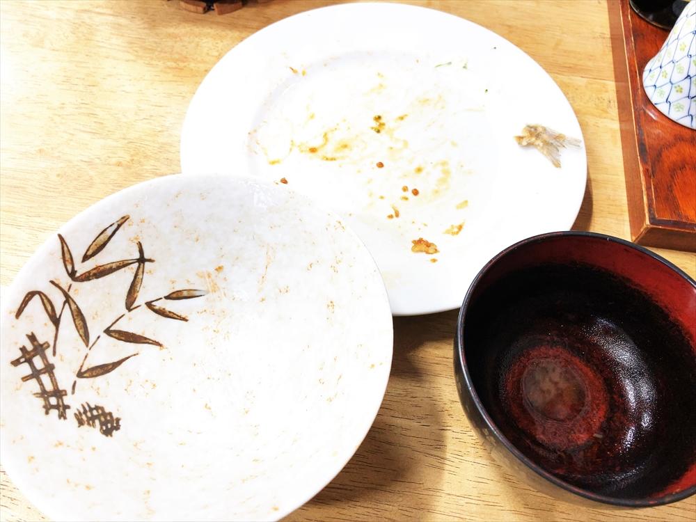 食堂 三楽「盛り天ぷら定食」完食