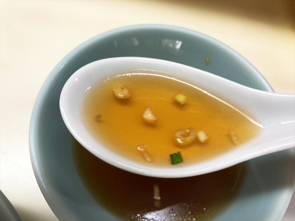揚子菜館「チャーハン」スープ