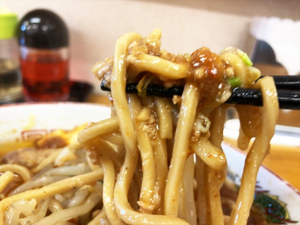 バカ盛りラーメン TABOO「ガンジャ・みそ味」麺