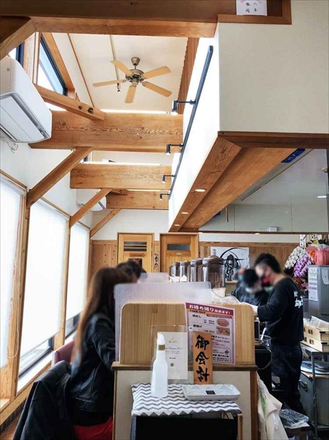 京都 麺や 向日葵の内観