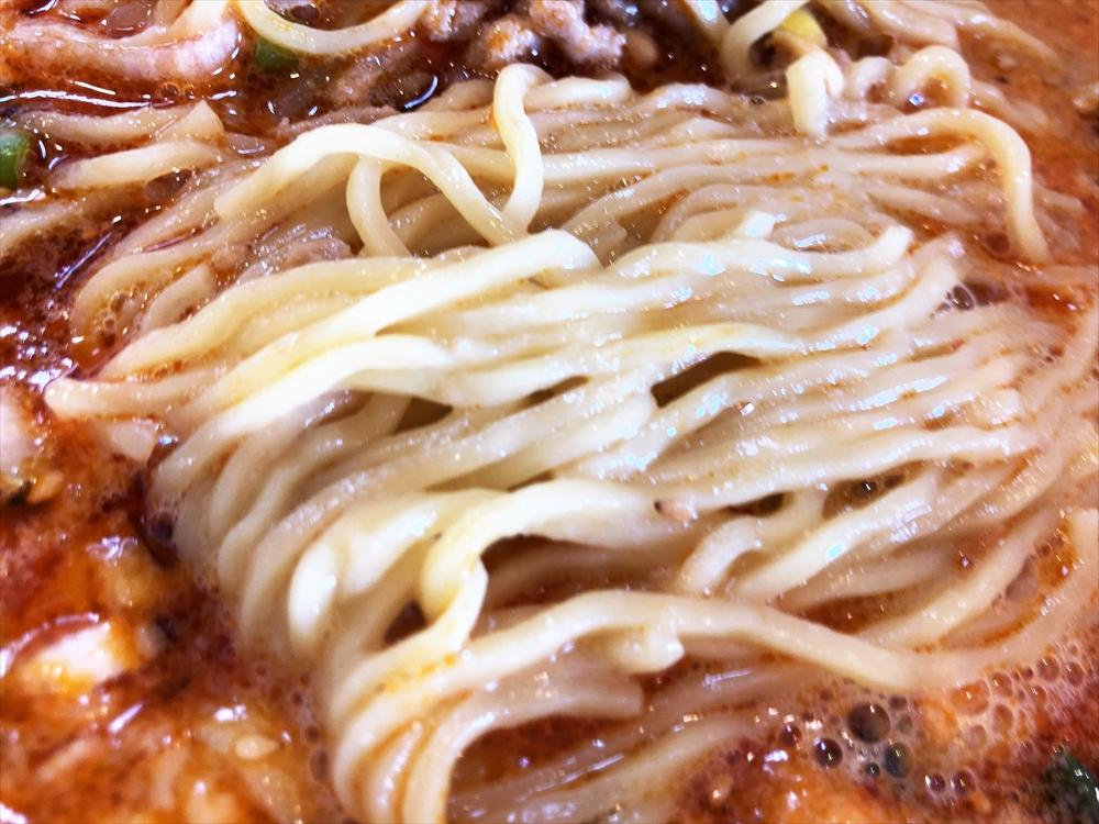 四川料理 蘭「タンタン麺(白ゴマ)」麺