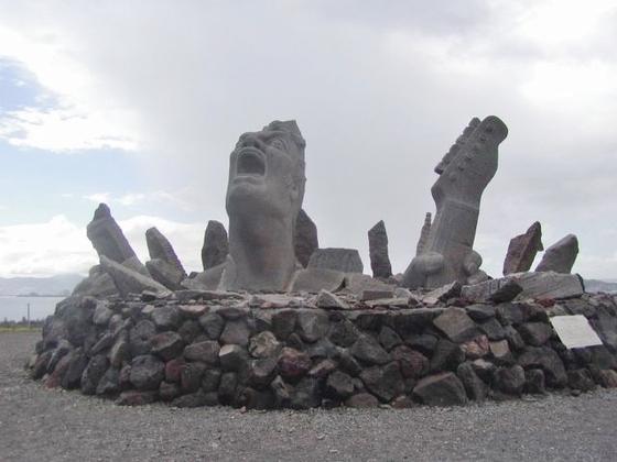 長渕剛の像