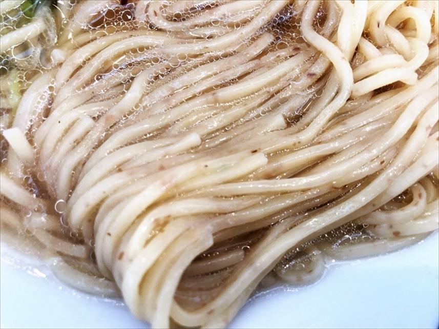 京都 麺や 向日葵「淡麗塩そば」麺